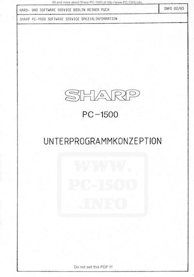 Unterprogrammkonzeption